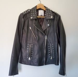 M.N.G mango szM leather jacket
